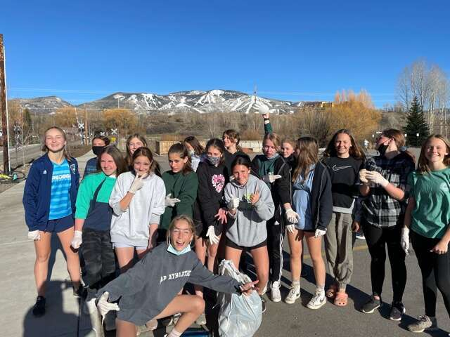 The Steamboat Springs Soccer Club participated in the first Sweep the Barn week last week. Built off the club mantra, each team spent some time collecting trash from public places in Steamboat Springs as a means to give back to the community.