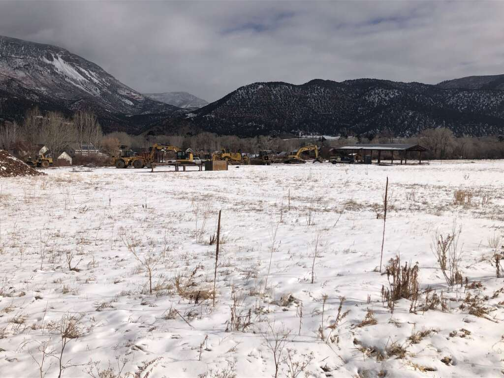 Heavy machinery was moved into the Stott's Mill site in Basalt last week and work started on infrastructure. | Scott Condon/The Aspen Times