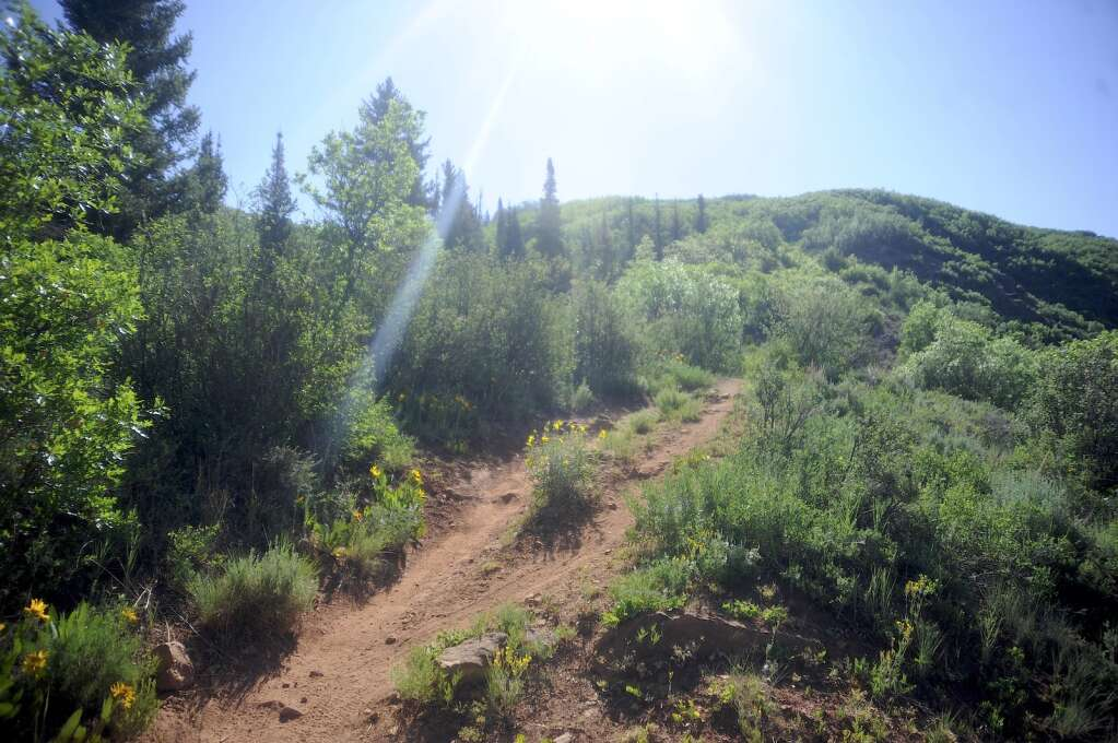 The Red Dirt Trail off of County Road 129 is aptly named. (Photo by Shelby Reardon)