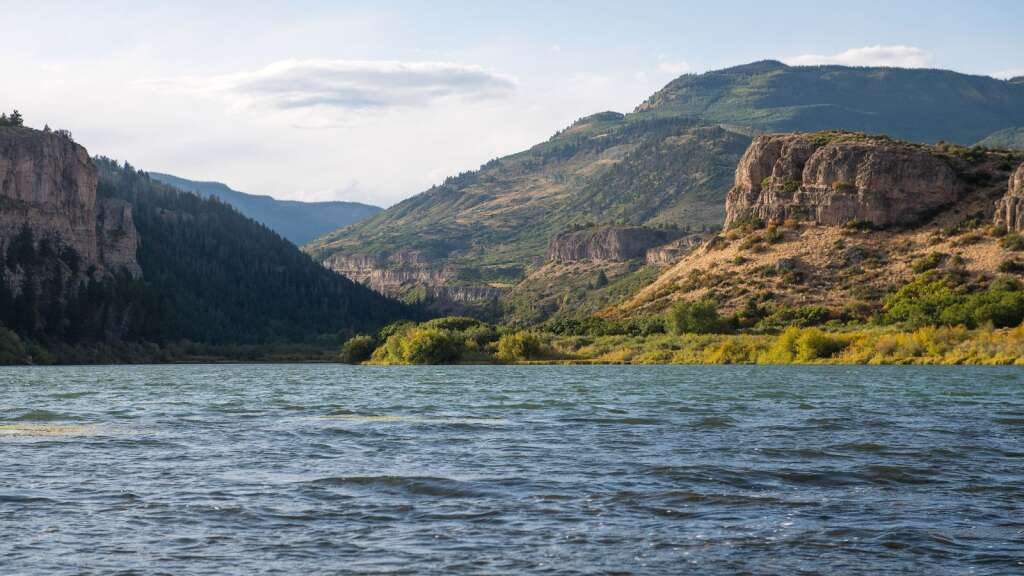 Sweetwater Lake, located in remote northeastern Garfield County in the Flat Tops, is set to become Colorado's first state park on federal land, after it was acquired by the U.S. Forest Service in August 2021.| Office of the Governor/Courtesy photo
