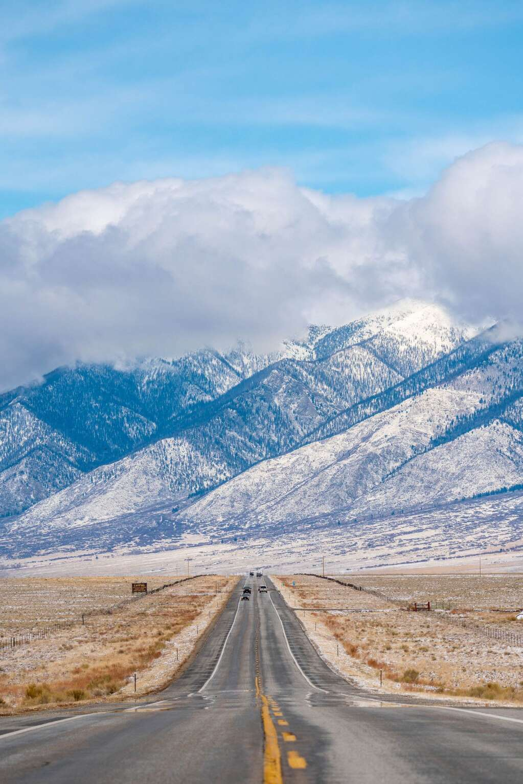 The view heading north on Highway 285 just past Alamosa, looking at Methodist Mountain, on the way home from Taos. | Craig Turpin/Rising Sun Photog