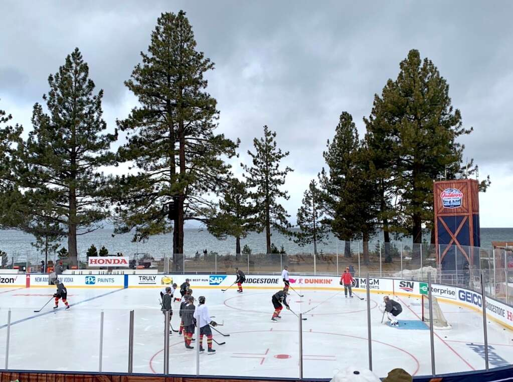 The Vegas Golden Knights practice Friday morning at Edgewood Tahoe.