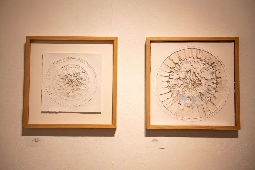 Art by Ami Purser is displayed in the Line and Form show in the Red Brick Center for the Arts in Aspen on Wednesday, June 2, 2021. (Kelsey Brunner/The Aspen Times)