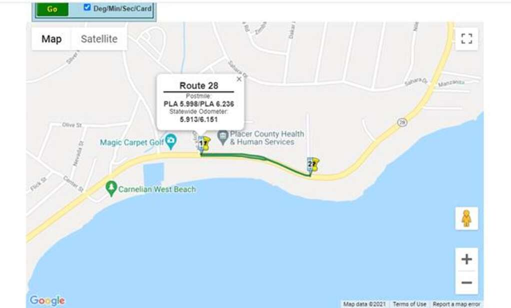 Expect one-way traffic control at two locations in North Lake Tahoe. | Maps provided by Caltrans