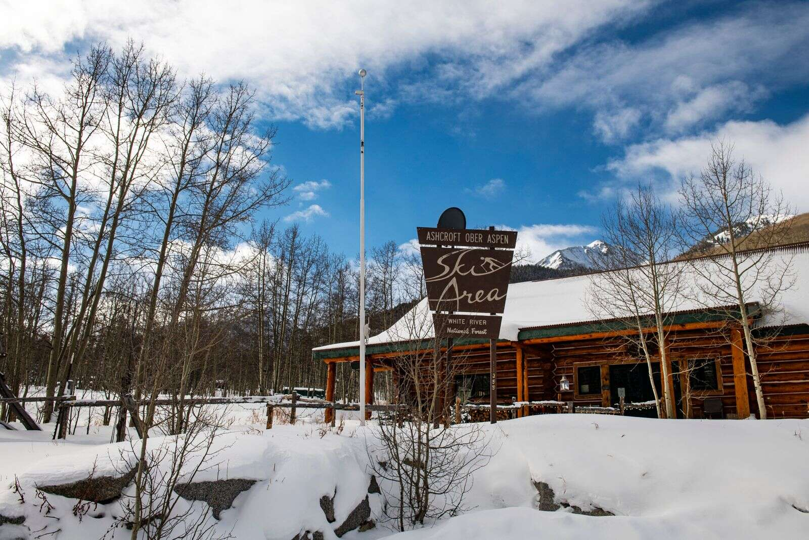 A quiet day outside the King Cabin before Ashcroft Ski Touring opens for its 49th season on Thursday. (Kelsey Brunner/The Aspen Times)
