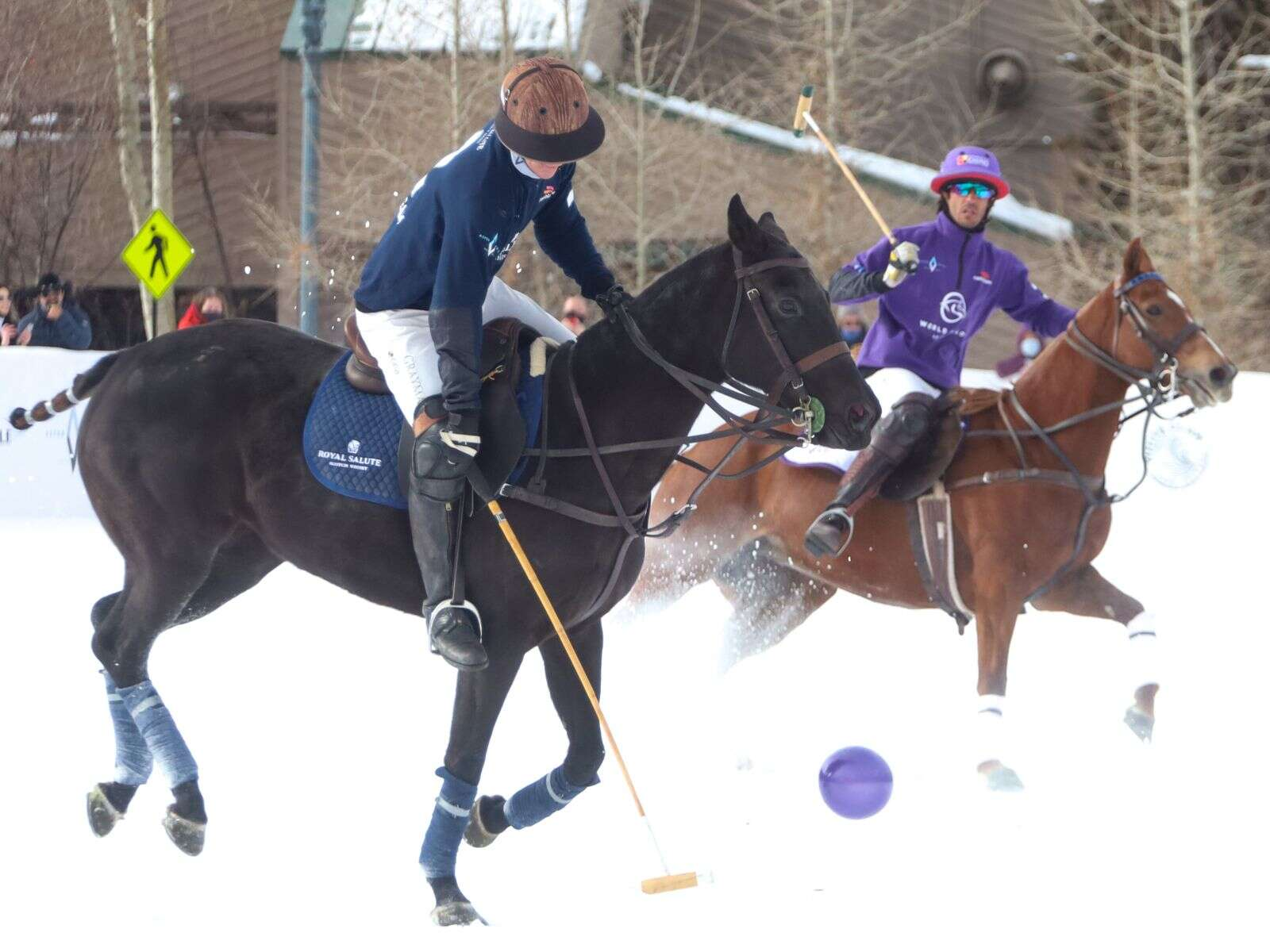 Photo from the World Snow Polo Championship on Sunday, Dec. 20, 2020, at Rio Grande Park in Aspen. Photo by Austin Colbert/The Aspen Times.