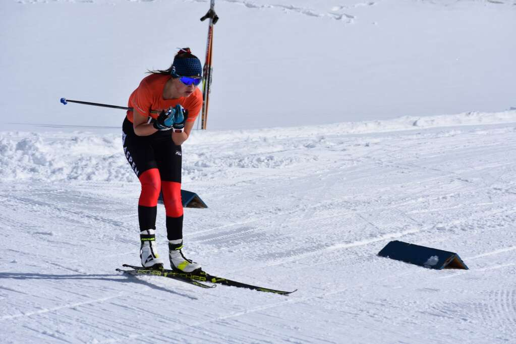 Aspen's Elsie Weiss competes in the Nordic state championships on Saturday, March 6, 2021, at the Gold Run Nordic Center in Breckenridge. Courtesy photo.
