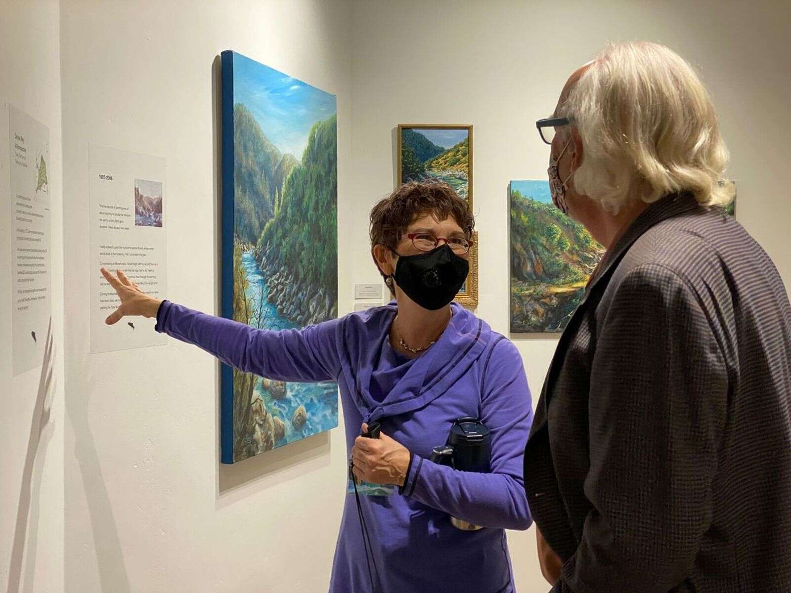 The Center for the Arts strives to support artists, like Denise Wey's Gallery Exhibit featured at the Center.