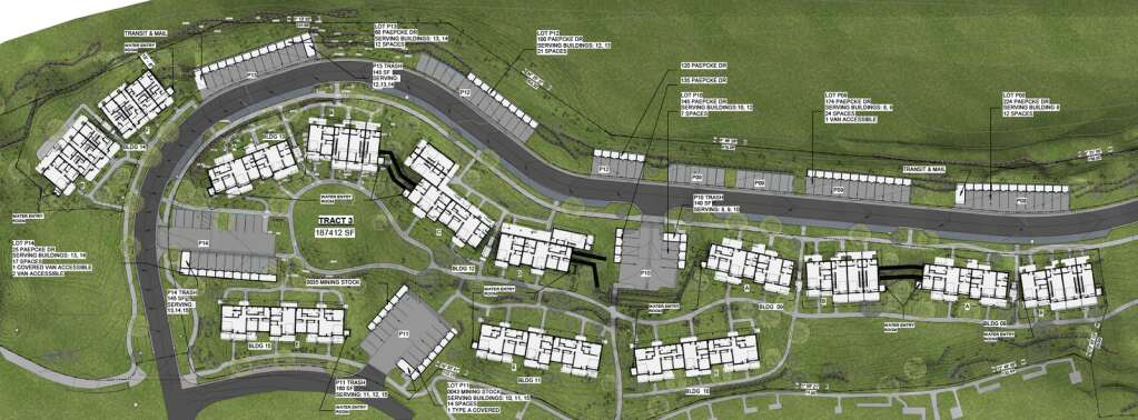 The layout of the Burlingame Ranch affordable housing subdivision.