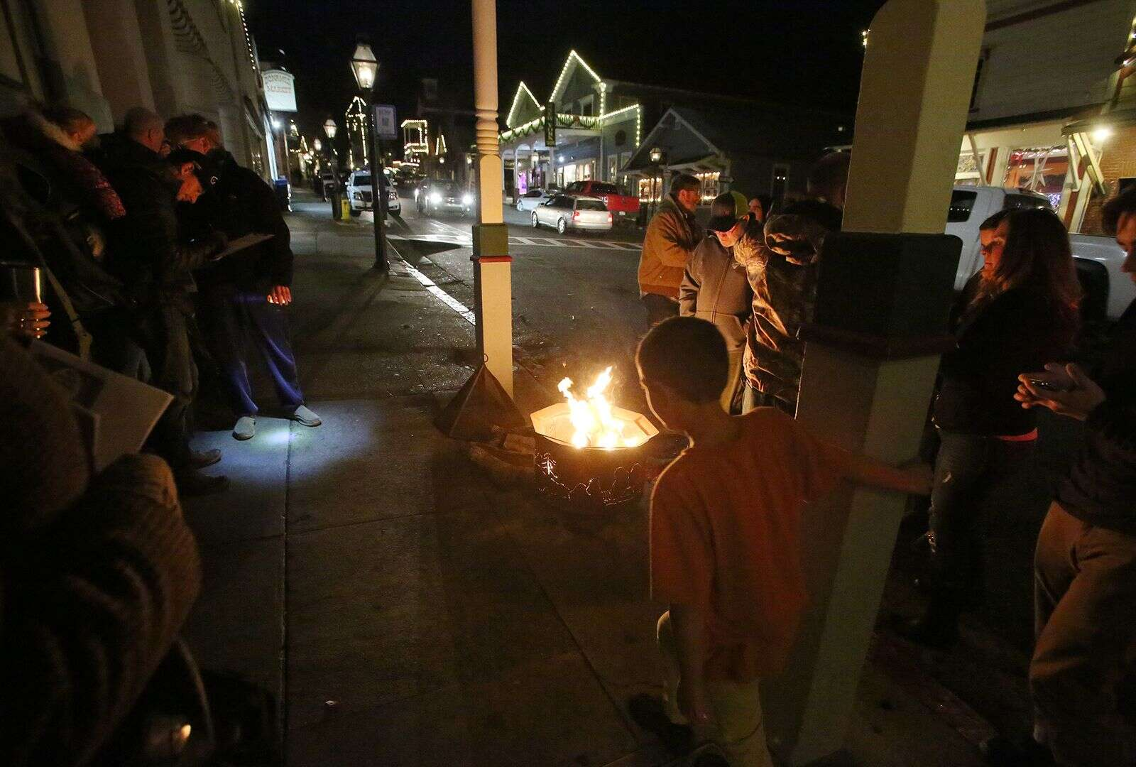 A few dozen people came to downtown Nevada City Friday afternoon to protest the state's regional stay at home order during an event dubbed Nevada City Revival.
