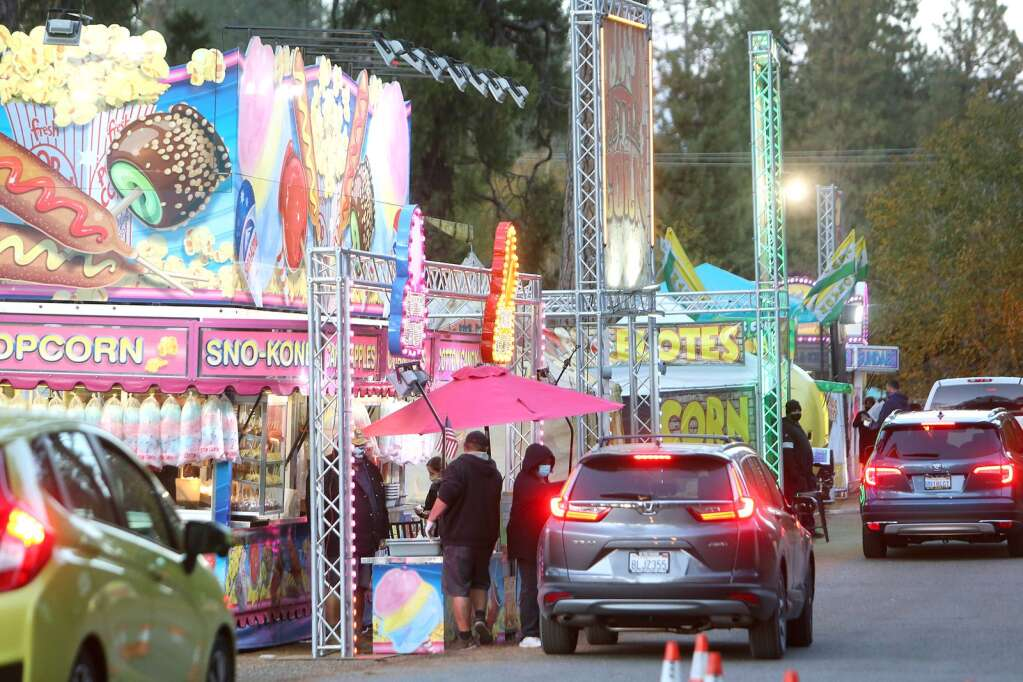 Folks craving some of their favorite Nevada County Fair food were able to get their fix from concessions offered by Butler Entertainment during the first weekend of November | Photo: Elias Funez