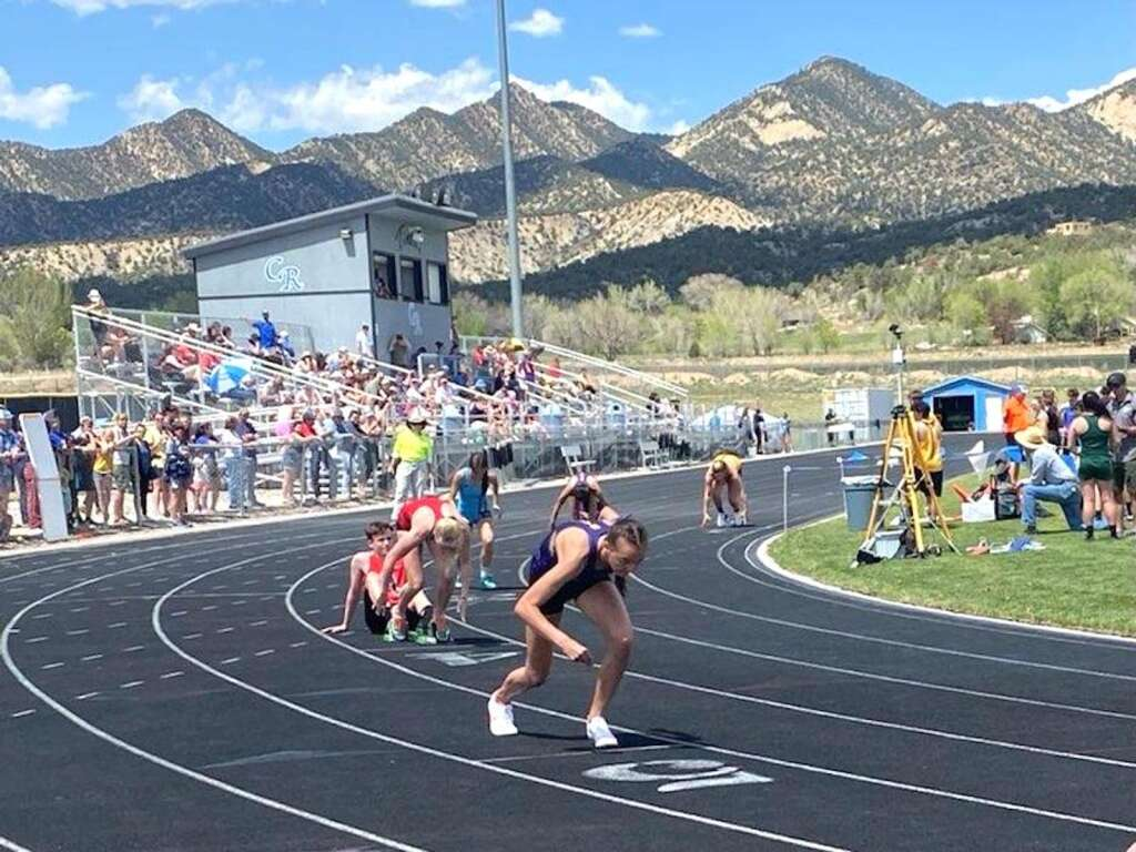 Basalt sophomore Katelyn Maley competes at the Rifle Invitational on Friday, May 7, 2021. Kristen Maley/courtesy photo.