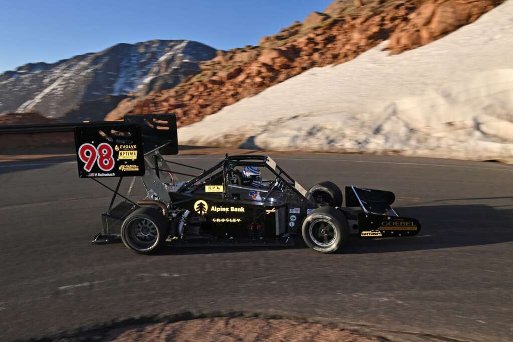 Basalt's Paul Dallenbach competed in the 2021 Pikes Peak International Hill Climb on June 27. Photo by Rupert Berrington.