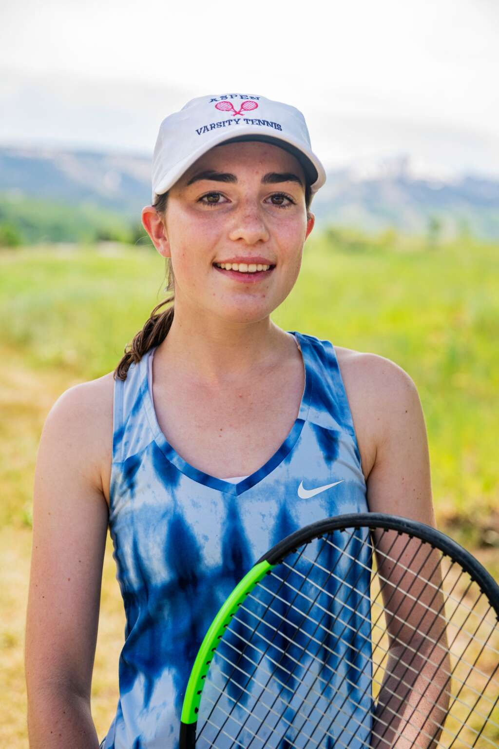 Aspen High School varsity tennis singles player Macy Hopkinson before practice at Snowmass Club on Wednesday, June 9, 2021. Hopkinson recently graduated and will be attending Notre Dame in the fall. (Kelsey Brunner/The Aspen Times)