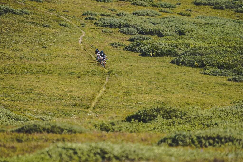 A racer rides during Tuesday's third stage of the six-day Breck Epic mountain bike race. | Photo by Devon Balet / Breck Epic