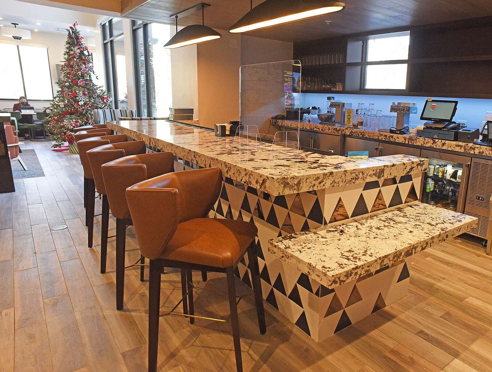 The bar at the new Residence Inn by Marriott will offer locally crafted beer and spirits, including selections from the Steamboat Whiskey Company and Storm Peak Brewery among others. (Photo by John F. Russell)