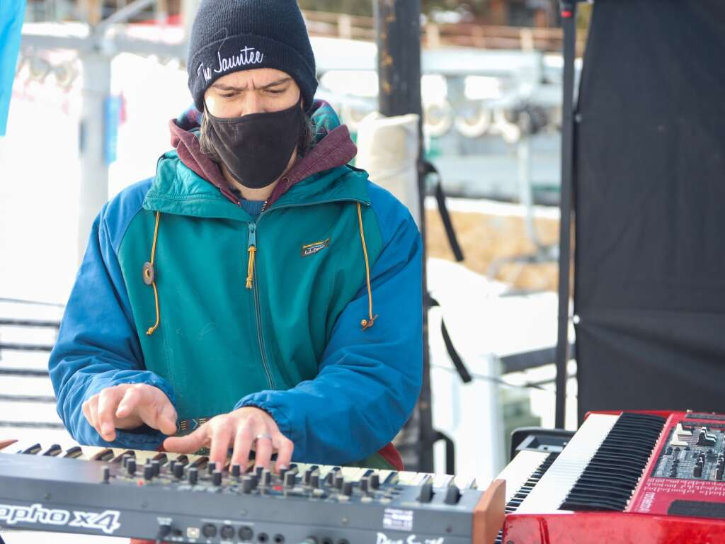 Jaunt Corporation joined members of The Jauntee, Thievery Corporation and Ghost Light for an afternoon jam session on Saturday, Jan. 16, 2021, at the base of Snowmass Ski Area. The concert was part of a new series of