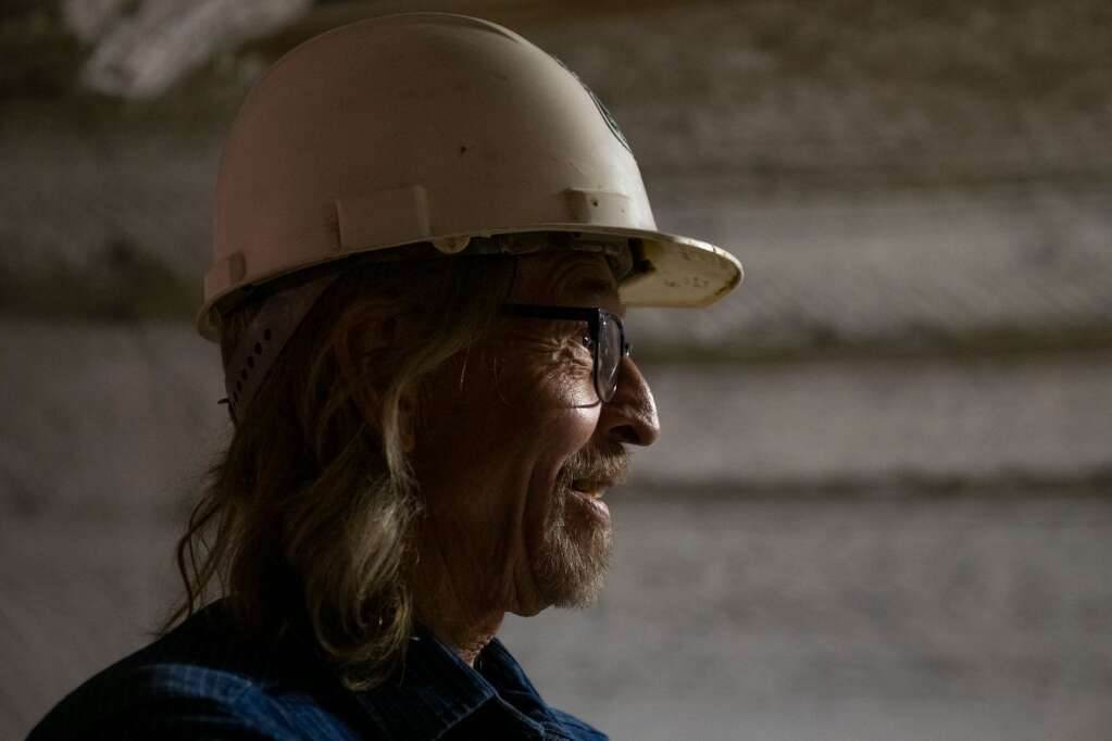 Robert Congdon discusses the history and his future hopes for his White Banks Alabaster Mine outside of Redstone on Thursday, July 29, 2021. (Kelsey Brunner/The Aspen Times)