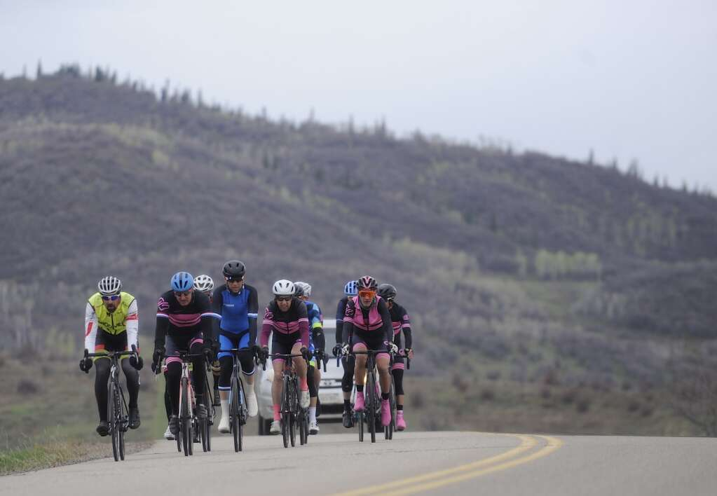 Cyclists could be spotted all over Routt County during the 2021 Steamboat Roubaix on Saturday, May 8. (Photo by Shelby Reardon)