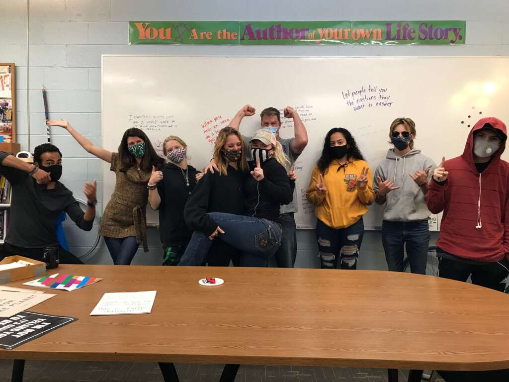 Seniors at Bridges High School took part in a capstone course where they made a shared documentary. Local non-profits 5Point and Voices helped collaborate with Bridges to make this project possible.