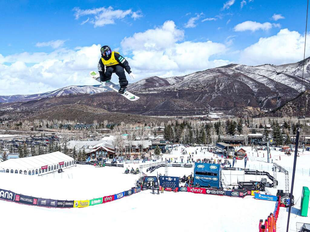 Japan's Yuto Totsuka competes in the men's snowboard halfpipe final of the U.S. Grand Prix and World Cup on Sunday, March 21, 2021, at Buttermilk Ski Area in Aspen, Colo. Photo by Austin Colbert/The Aspen Times.