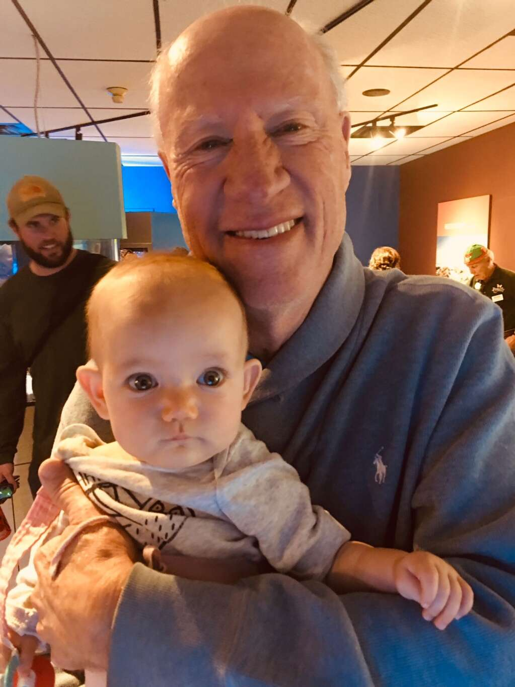 """""""A Rewiring Life"""" author Mark Howard with grandchild."""