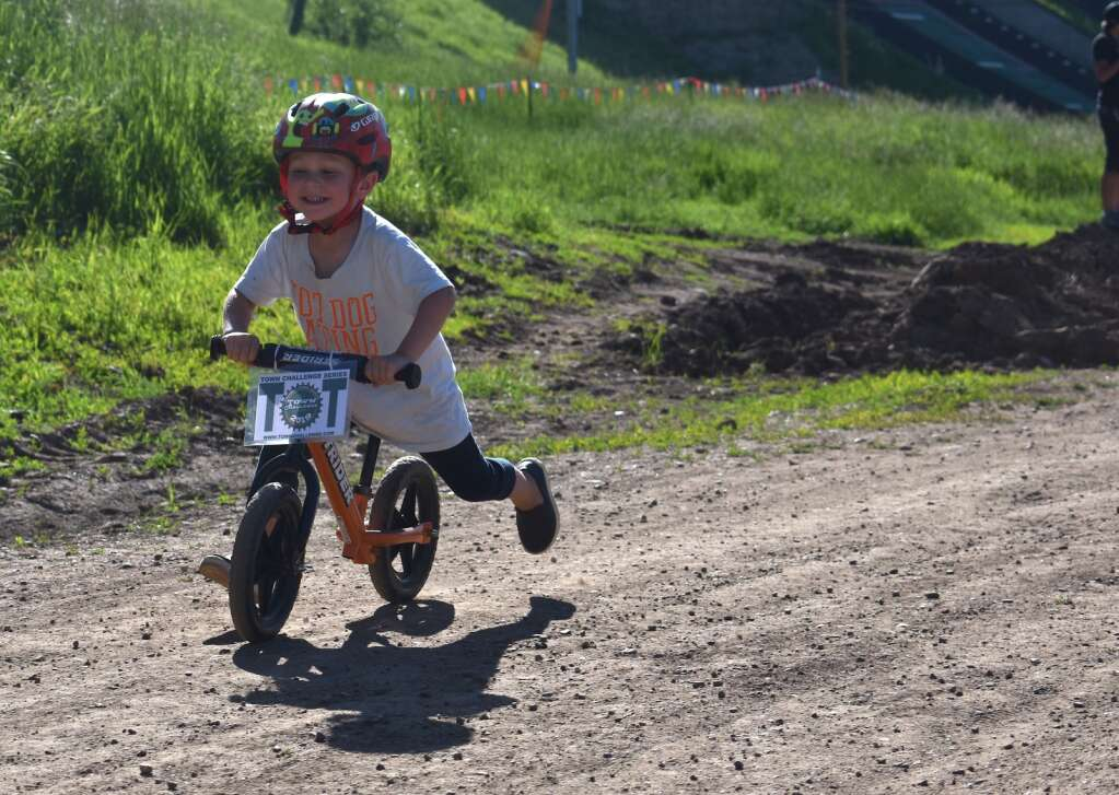 The 'Tots' kicked off the Emerald Endurance bike race in 2019 as part of the Town Challenge.