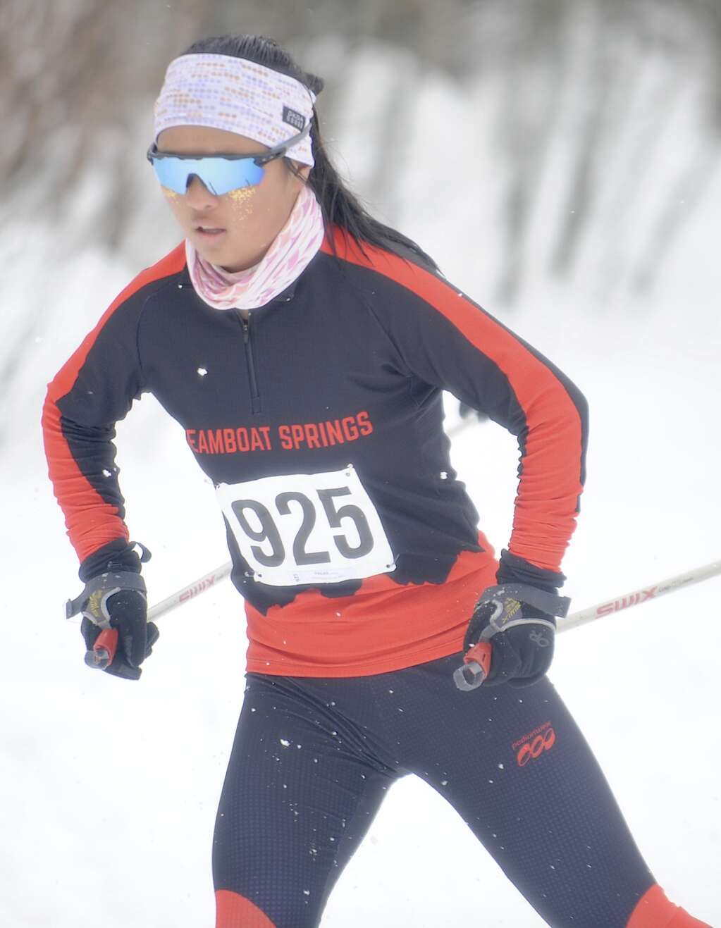 Steamboat Springs Nordic skier Annie Hagar earned fourth at a home race at the Steamboat Ski Touring Center on Friday afternoon. (Photo by Shelby Reardon)