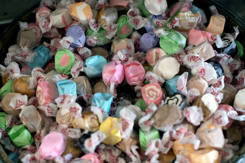 Saltwater taffy is pictured at Foote's Rest Sweet Shoppe in Frisco on Tuesday, Aug. 17. | Photo by Jason Connolly / Jason Connolly Photography