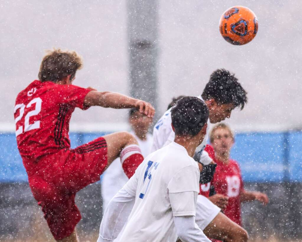 The Aspen High School boys soccer team hosts Roaring Fork on Tuesday, Oct. 12, 2021, on the AHS turf. The Skiers won, 3-2. Photo by Austin Colbert/The Aspen Times.