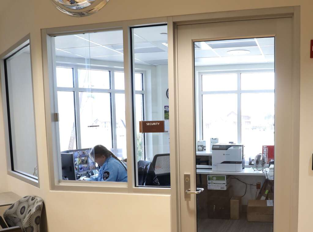 The new emergency department at the UCHealth Yampa Valley Medical Center has a security center where staff can monitor what is happening both inside, and outside of the department. (Photo by John F. Russell)