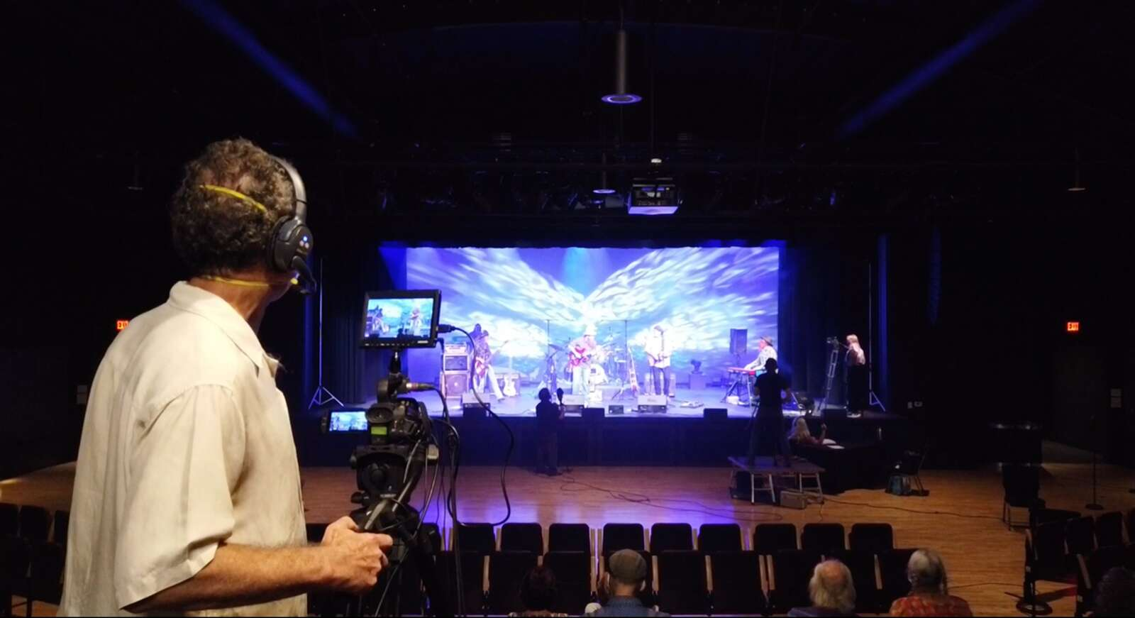 Employees work behind the scenes to make virtual shows at The Center for the Arts a reality.