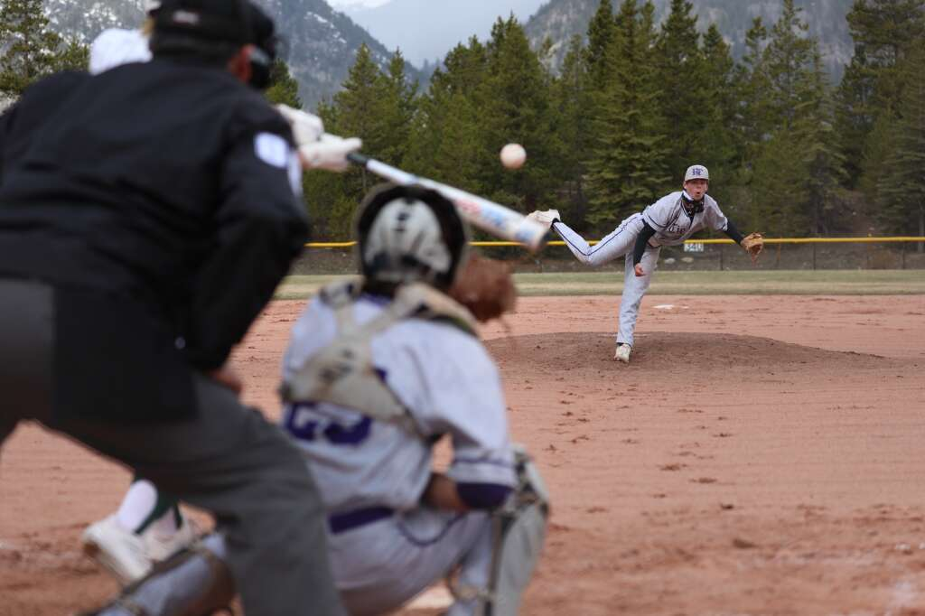 The Summit High School varsity baseball team plays in the season opener vs. Holy Family on May 8 at the Frisco Peninsula Recreation Area.   Photo by Ashley Low / Ashley Low Photography