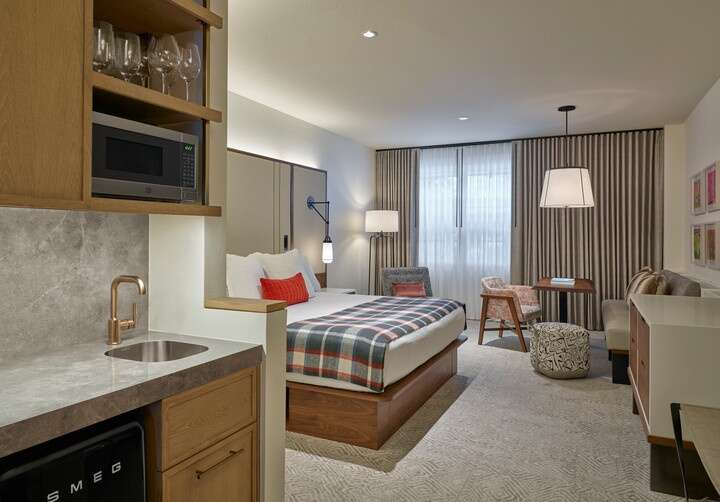 A rendering of renovations to a guest room at The Limelight Aspen  Limelight Hotels/Courtesy image