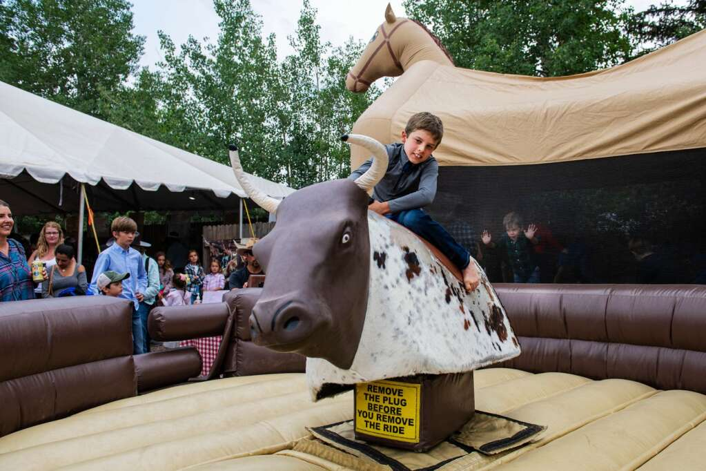 Kids events line the main action at the Snowmass Rodeo providing fun for the whole family on Wednesday, June 23, 2021. (Kelsey Brunner/The Aspen Times)