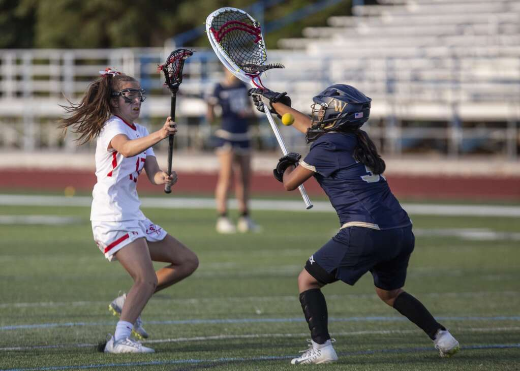 Park City High School sophomore Lilly Hunt takes a shot on goal. (Tanzi Propst/Park Record)