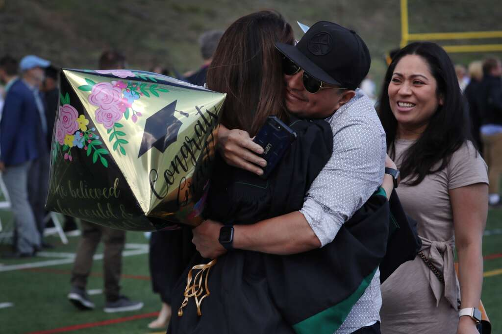 The Summit High School class of 2021 celebrates graduation with friends and family during a ceremony Saturday, May 29, at the school in Breckenridge.   Photo by Ashley Low