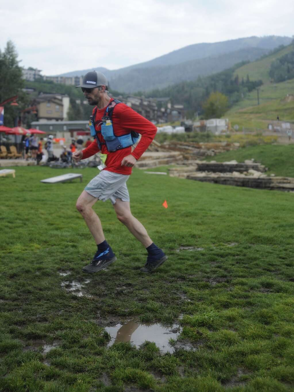 A runner nears the finish line at the Continental Divide Trail Run on Saturday morning. (Photo by Shelby Reardon)