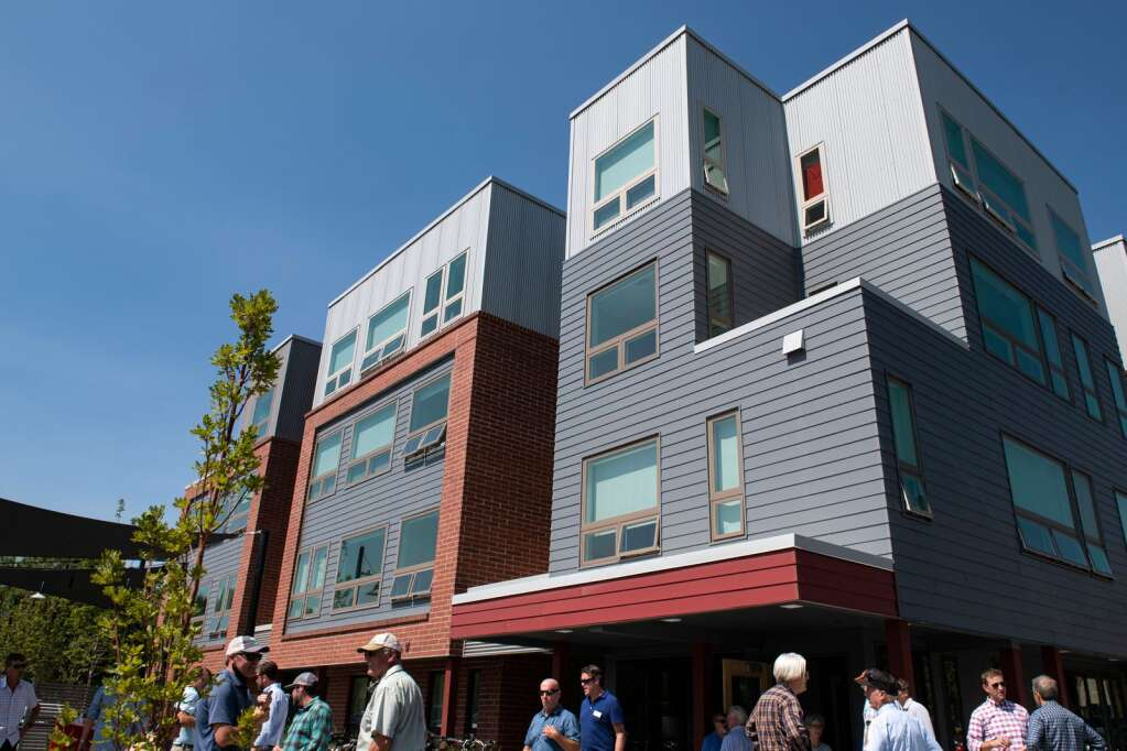 Aspen Skiing Co. hosted an open house for its new 43-unit affordable housing project in Willits on Thursday, Sept. 9, 2021. (Kelsey Brunner/The Aspen Times)