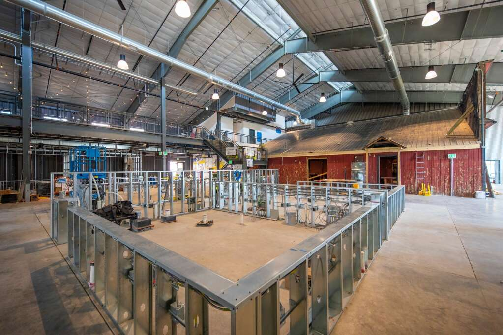The interior of Bluebird Market in Silverthorne is pictured Tuesday, July 20. The market will be home to new food, drink and retail operations when it opens this fall. | Photo by Tripp Fay / Tripp Fay Photography