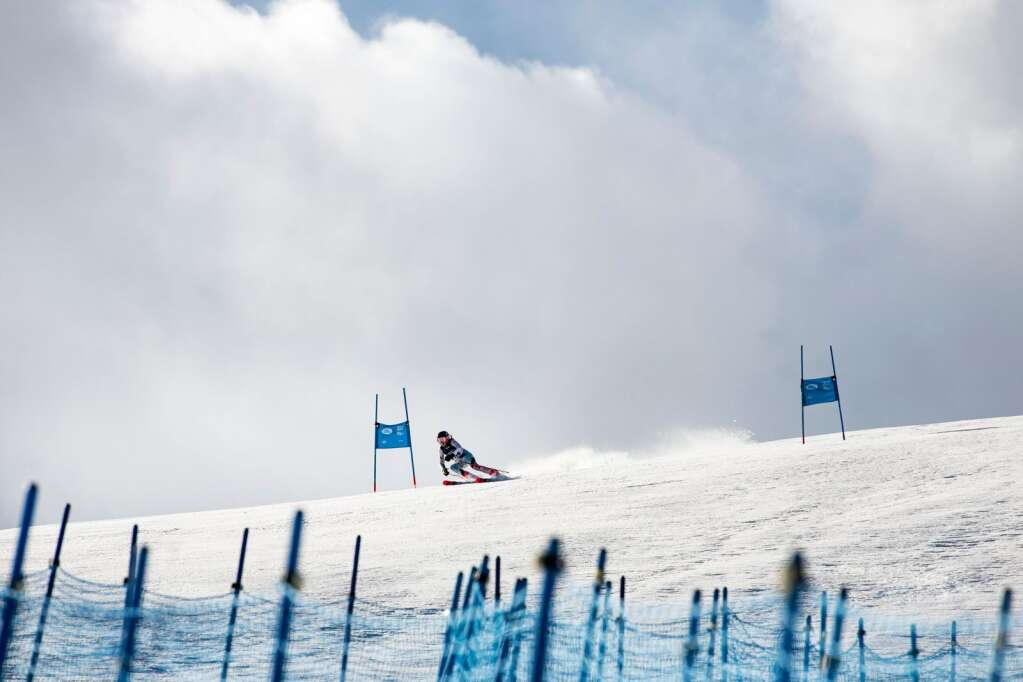 American alpine skier Jasmine Whittaker competes in the Women's Giant Slalom National Championship at Aspen Highlands on Thursday, April 15, 2021. Whittaker finished 27th overall. (Kelsey Brunner/The Aspen Times)