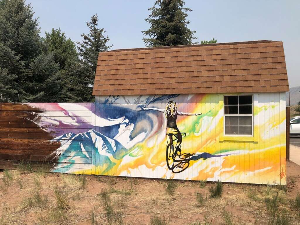 Seth Weber of Paonia painted this piece for the Basalt Public Arts Commission's mural project in Basalt.   Courtesy photo