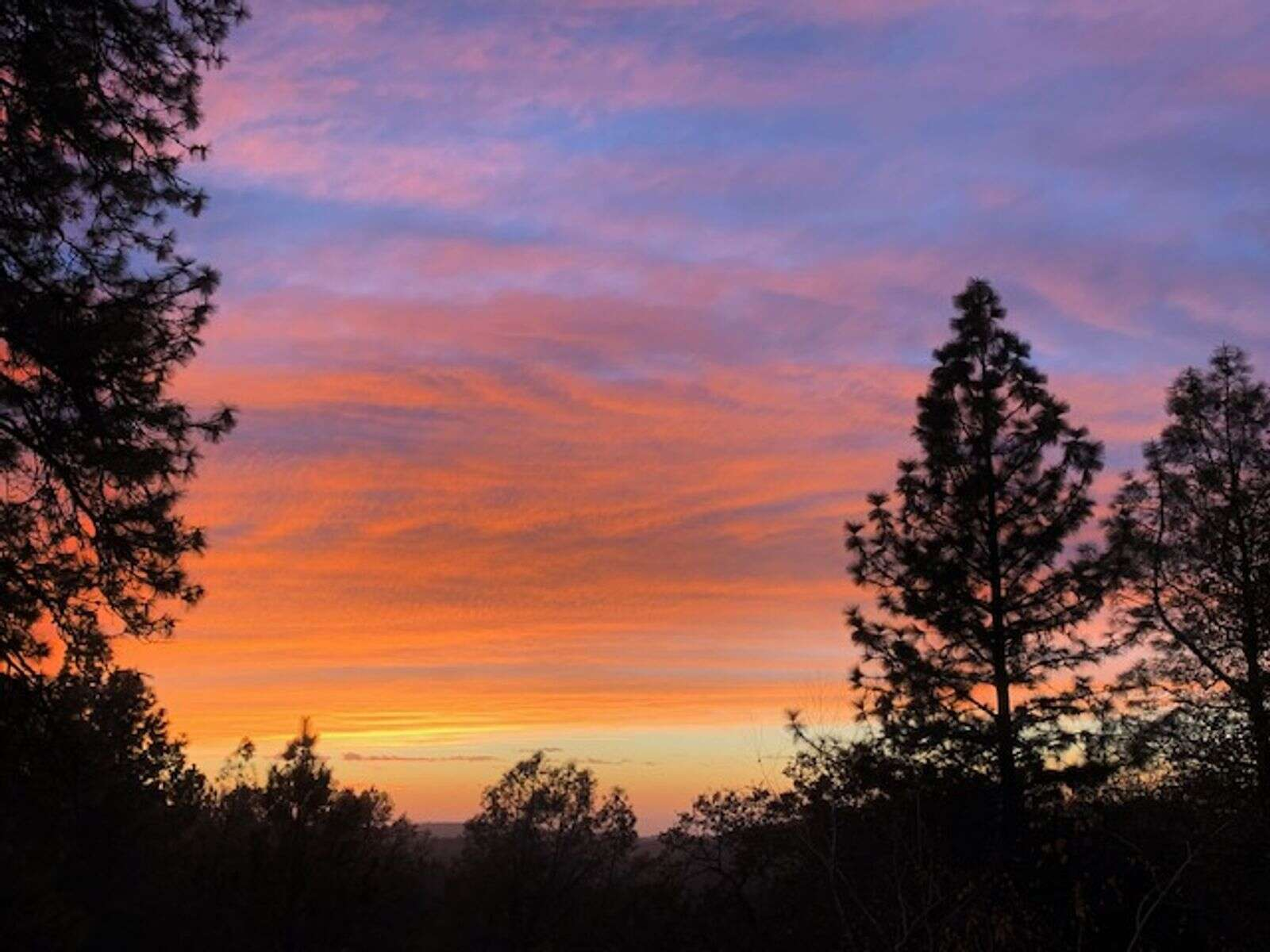 Another beautiful sunset Saturday evening.   Submitted by Marilyn Webb