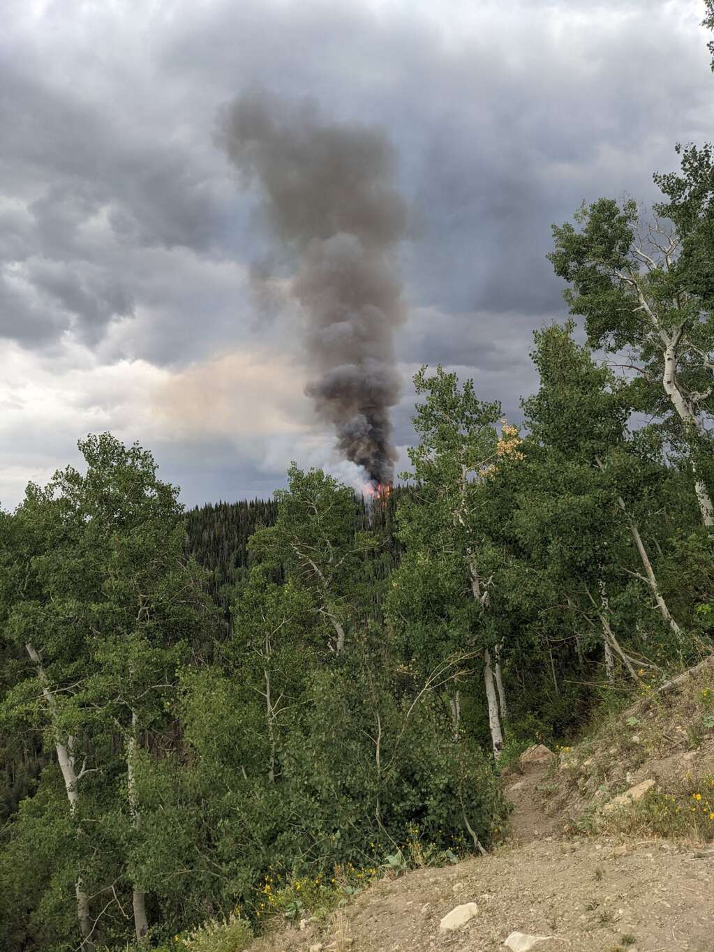 The Elk Run Fire popped up late Friday afternoon west of Steamboat Springs. (Courtesy photo)