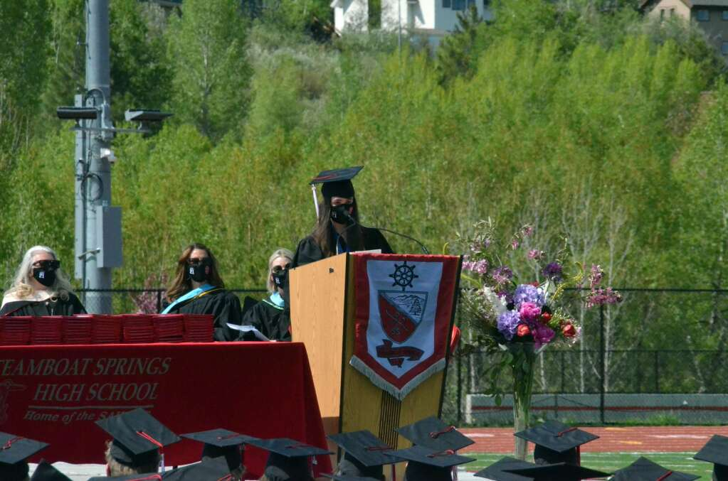 Elena Wittemyer is one of two distinguished student speakers to address the Class of 2021 at graduation. (Photo by Bryce Martin)