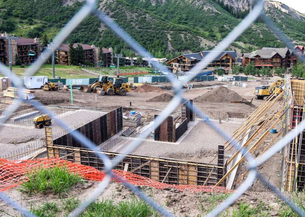 Homes in the Havens at Fanny Hill development begin to take shape in Snowmass Village on Sunday, July 4, 2021. | Austin Colbert/The Snowmass Sun