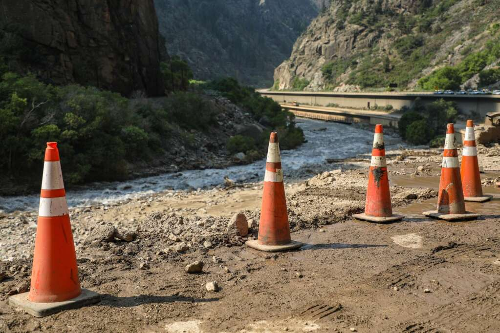Infrastructure was heavily damaged during the slides that decimated Glenwood Canyon as shown Wednesday between Dotsero and Glenwood Springs.   Chris Dillmann/cdillmann@vaildaily.com