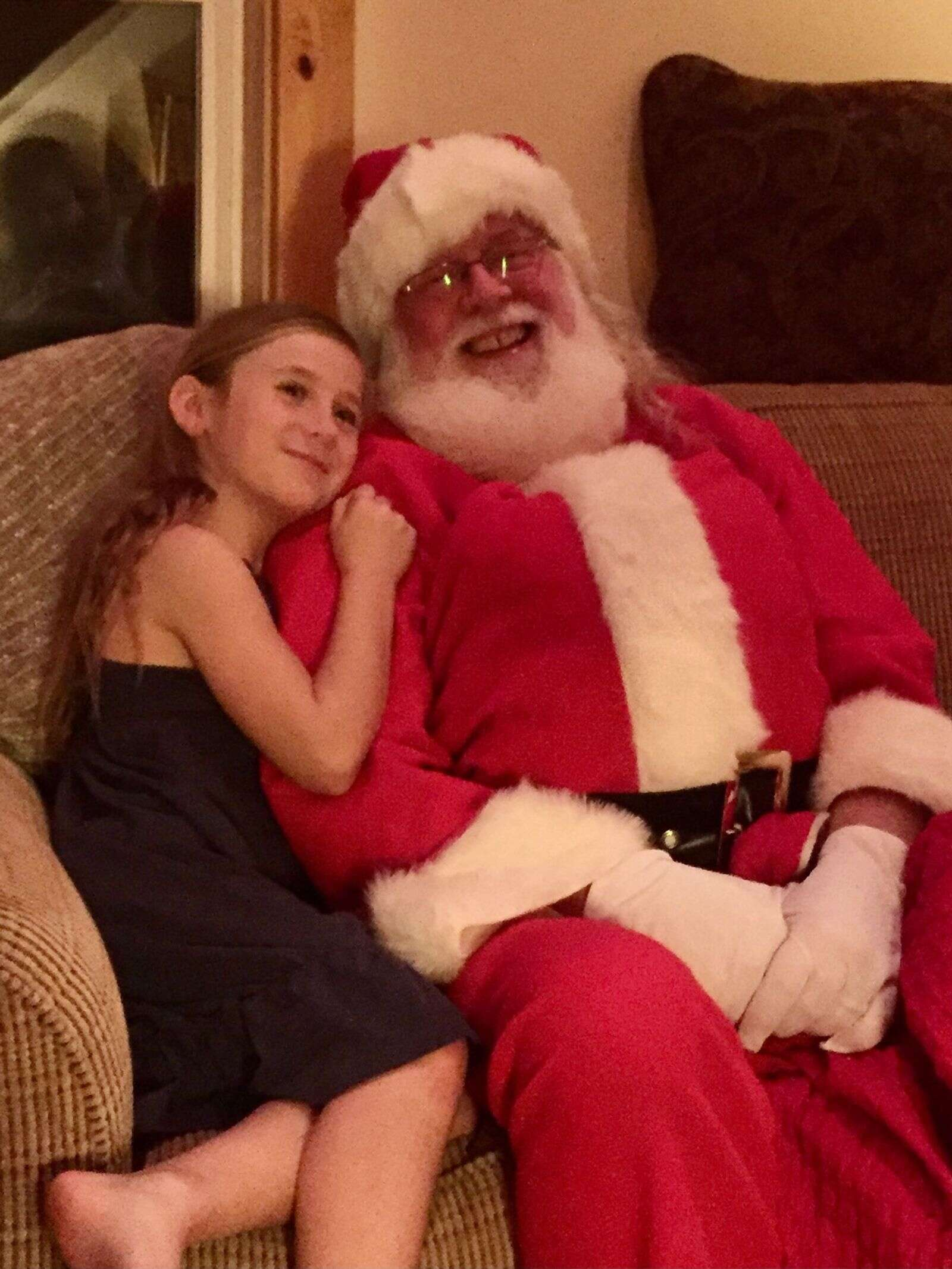 Favorite Holiday photo, Kayley and Santa. | Submitted by Kate Heuer