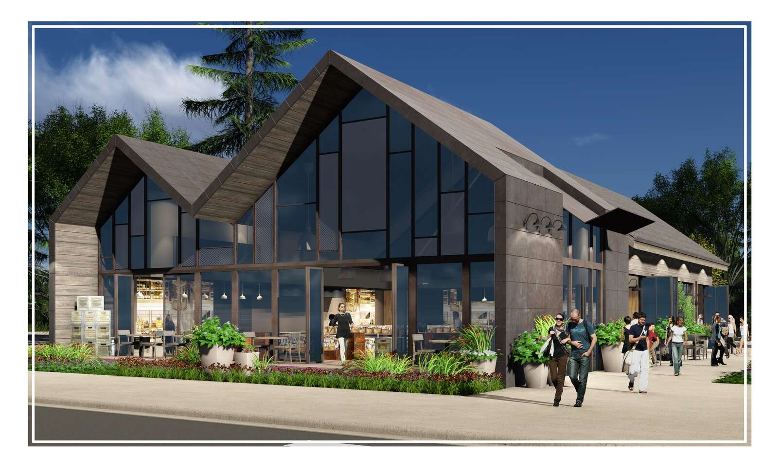 An architect's rendering of what a new bank will look like on Main Street.