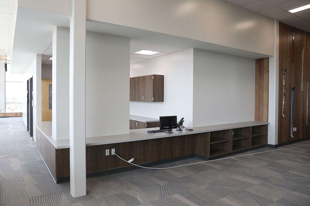 The media center at the new Sleeping Giant as large windows that provide plenty of natural light and modern features.